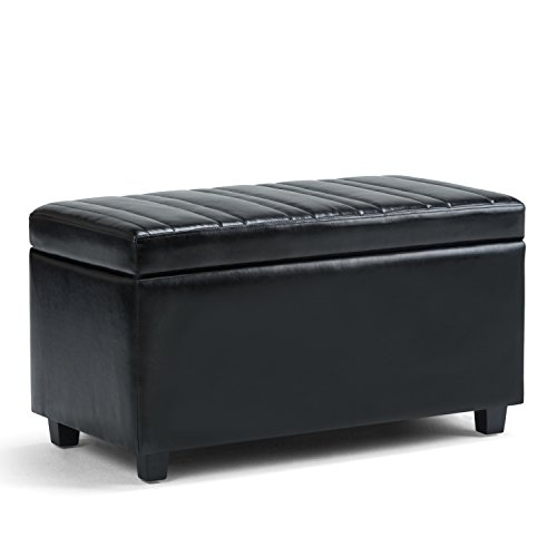 Simpli Home Darcy Storage Ottoman Bench, Midnight Black Review
