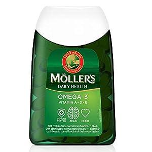 Moller's ® | Capsules oméga-3 | Huile de poisson | Complément alimentaire nordique d'oméga-3 avec EPA, DHA, vitamines A…