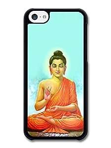 MMZ DIY PHONE CASEAMAF ? Accessories Buddha Siddhartha Gautama Praying In The Jungle Tibet Buddhism case for iphone 4/4s