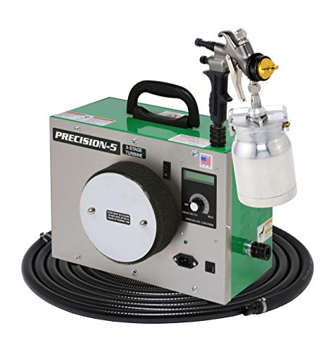 (Apollo HVLP Precision Series 5 Stage Turbine with A7500QT Spray Gun, 24 Foot Hose, Deluxe Needle Cap and Nozzle Kit and FREE Gun Cleaning Kit, Viscosity Meter and Wet Mil)