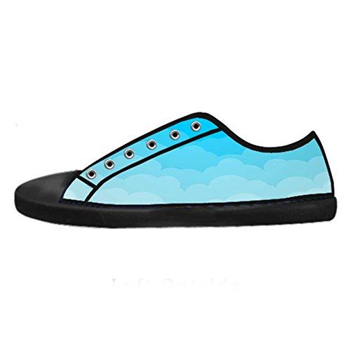 Dalliy Blaue Wolken Mens Canvas shoes Schuhe Lace-up High-top Sneakers Segeltuchschuhe Leinwand-Schuh-Turnschuhe A