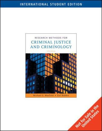 Research Methods for Criminal Justice and Criminology (ISE)