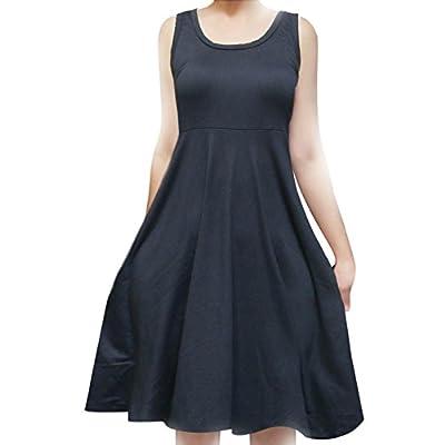 SMT Women's Sleeveless Flowy Midi Summer Beach A Line Tank Dress