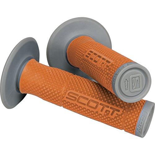 Scott Sports USA Gray One Size Scott Sports 219624-1011 Orange/Grey SX II Motorcycle Grips w/Donuts (Scott Hurricane Grips)