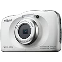 Nikon COOLPIX W100 White Digital Camera Australian Warranty, White (VQA010AA)