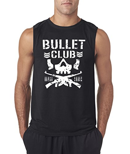 New Way 786 - Men's Sleeveless Bullet Club Skull Bone Soldier Japan Pro Wrestling Large Black