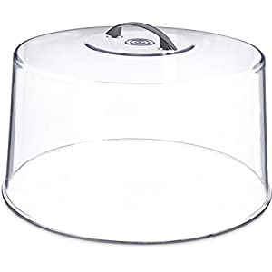 "Carlisle 251207 Shatterproof 12"" Cake Cover / Dome, 6.5"" Tall"