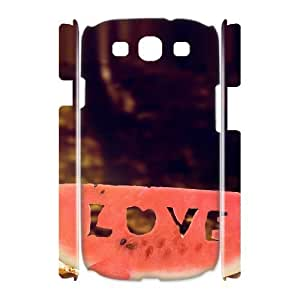 3D Samsung Galaxy S3 Cases, Protector Cute LOVE watermelon Cases For Samsung Galaxy S3 {White}