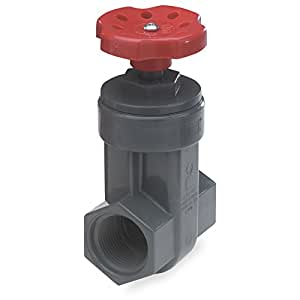 """NDS GVG-0750-T Threaded PVC Schedule 80 Gate Valve, Grey, 3/4"""""""