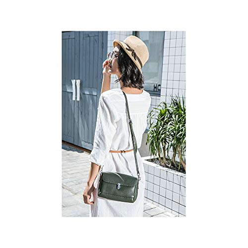 Wild In Piccola Dark Bovina Blocco Pelle Fibbia Color Nero Solido New Lyzd Strato Green Borsa Superiore Diagonale A Del Tracolla Retro wFqBfTH6I
