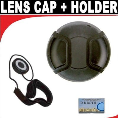 Professional Snap On Lens Cap + Deluxe Lens Cap Keeper For The Sony Cybershot DSC-R1 Digital Cameras ()