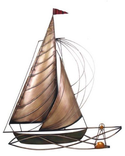 wall art metal wall art sail away yacht amazon uk kitchen