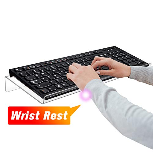Nat-Hom Computer Keyboard Stand-Clear Acrylic Keyboard Tray,Ticker Acrylic Keyboard Riser(Holder) for Easy Ergonomic Typing and Working at Home and Office(Standard)