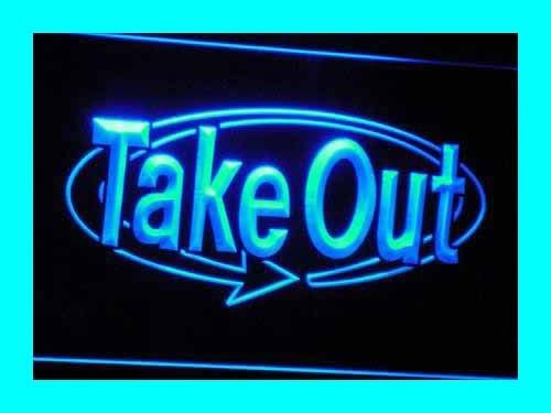 ADVPRO Cartel Luminoso i036-b Open Take Away Display NR Shop ...
