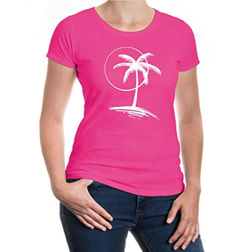 buXsbaum® Girlie T-Shirt Vacation Time V2 Fuchsia