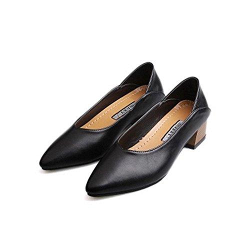 Giy Donna Mocassini Classici Décolleté Punta A Punta Slip-on Blazer Scarpe Business Scarpe Stringate Basse Nere