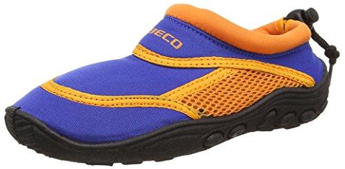 BECO Badeschuhe / Surfschuhe für Kinder blau/orange 32