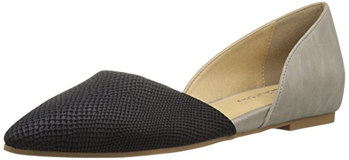 CL by Chinese Laundry Women's Hearty Pointed Toe Flat, Black/Grey Snake,  8.5 M US