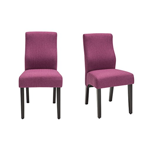 YongQiang Dining Chairs Set of 2 Upholstered Parson Living Room Kitchen Chairs with Solid Wood Legs Red Wine Review