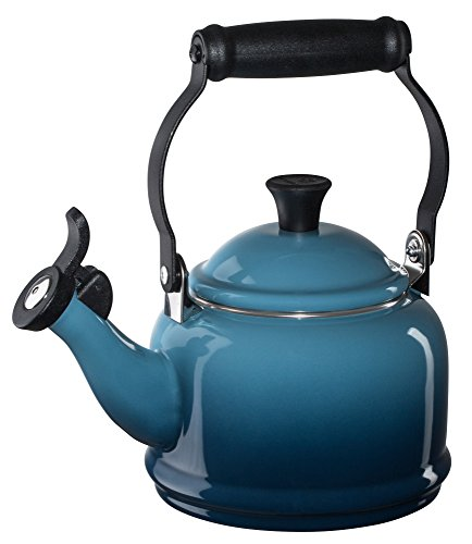 Le Creuset Enamel-on-Steel Demi 1-1/4-Quart Teakettle, Marine