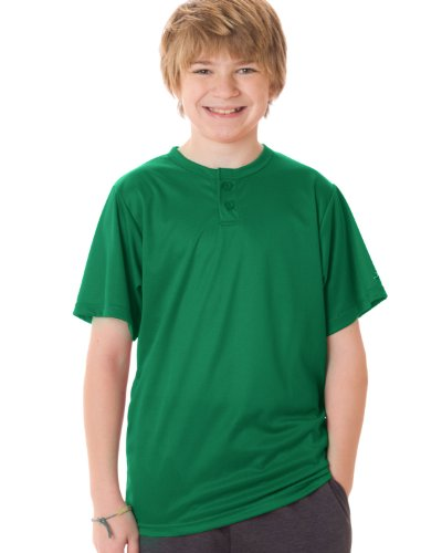 Badger Sport Youth B-Dry Core Henley T-Shirt - (Badger T-shirt Henley)