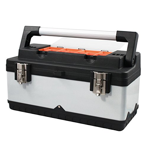 Universal Utility Heavy Duty Tool Box 19 Lift Out Tray 11 Compartment Storage