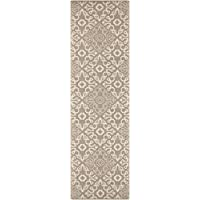 Surya ALF9635-2379 Machine Made Traditional Runner Rug, 2-Feet 3-Inch by 7-Feet 9-Inch, Taupe/Beige