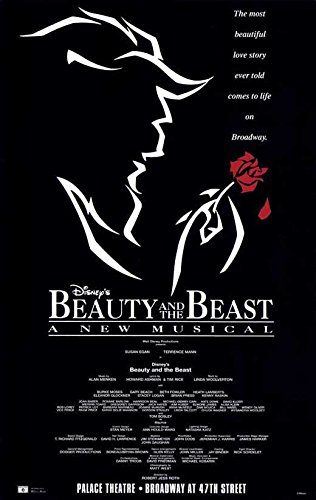 Beauty and the beast broadway poster movie 27 x 40 inches 69cm