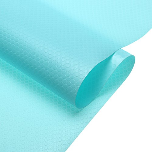 MagicFeel EVA Anti-Mildew Anti-Bacterial Non Slip Waterproof Fridge Refrigerator Shelf Pads Kitchen Cupboard Cabinet Drawer Liners Mat, 17.7 inch x 59 inch - 1 Roll (Blue)
