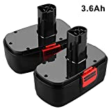 19.2V 3.6Ah Replacement for Craftsman 19.2 Volt Battery DieHard C3 130279005 315.113753 315.115161 315.115410 315.11485 Ni-Mh Batteries 2Pack
