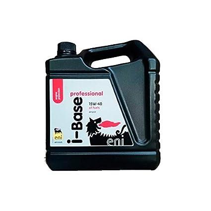 ENI-AGIP Aceite Coche 15w40 i-Base Prof 5Ltrs: Amazon.es ...