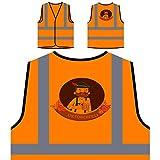 Man With Typical Clothes Oktoberfest Personalized Hi Visibility Orange Safety Jacket Vest Waistcoat g877vo