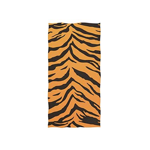 DOMIKING Tiger Stripes Print Soft Bath Towel Absorbent Fade Resistant Pool Beach Bath Towel for Bathroom Hotel Gym and Spa, 30