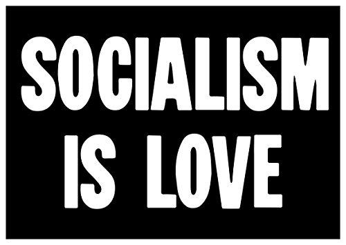 New Black Sticker Socialism Is Love Socialist Bernie Sanders Revolution Activist Activist Sticker