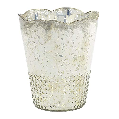 Accent Mercury Glass Floral Container in Silver 6