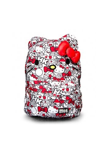 Hello Kitty Red & White All Over Print Backpack -
