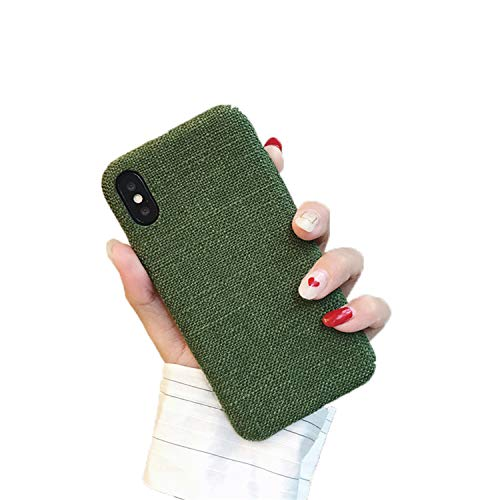 - Plush Fabrics Phone Case for iPhone Soft Color Back Cover Cases Capa Fundas Green for iPhone 6 6s Plus