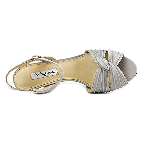 Women's Camille Dress Luster Silver Sandal Nina LS Satin vFUnx6qSw