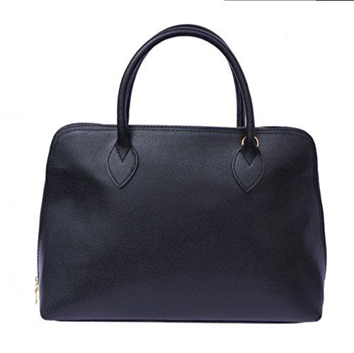 SUPERFLYBAGS Sac CIRC véritable en Fabriqué main Format noire en A4 Saffiano Model cuir à Italie xxRd8wqr