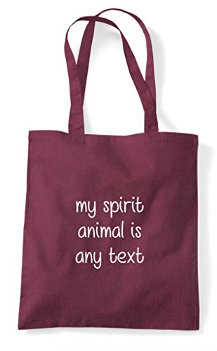 Burgundy Personalised My Tote Spirit Shopper Is Bag Add Customised Animal Any Text PpwAfxpq
