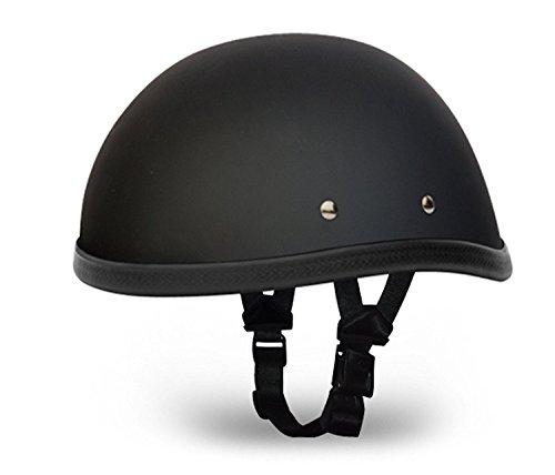 Daytona Dot Skull Cap (Novelty Eagle Dull Black Motorcycle Helmet (M))