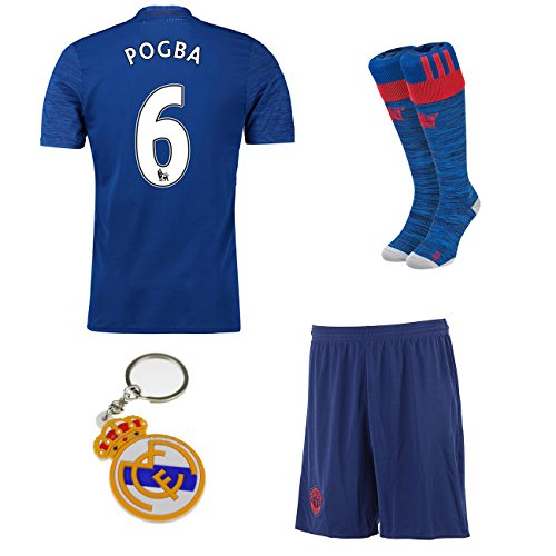 2016/2017 Manchester United #6 pogba away Kids Soccer Football Jersey Short Socks