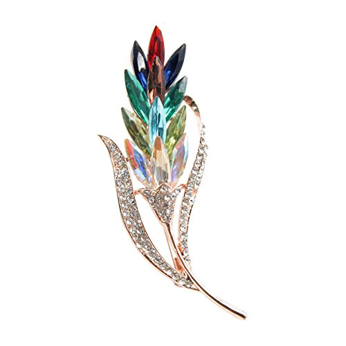 JOG Cindy Multi-color Crystal Flower Brooches Rhinestone Brooch Pin Fashion Jewelry Coat Dress by JOG Cindy (Image #2)