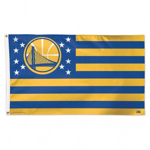 WinCraft Golden State Warriors NBA American Flag 3 x 5 Foot by WinCraft