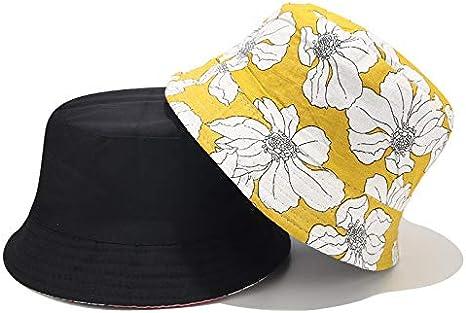 MINXINWY_ Gorras Sombrero de Pescador de impresión Floral, Mujer ...