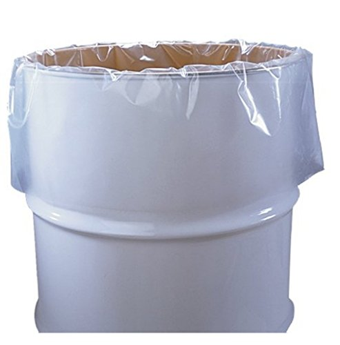 "NAP 55 Gallon Clear Plastic Drum Liners, Food Grade, 38"" ..."