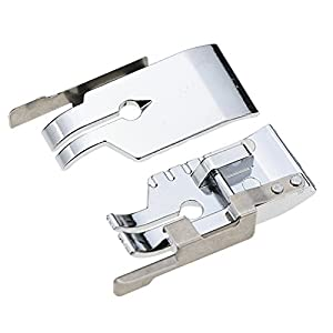 1/4''(Quarter Inch) Quilting Patchwork Sewing Machine Presser Foot with Edge Guide for All Low Shank Snap-On Singer, Brother, Babylock, Euro-Pro, Janome, Juki, Kenmore, Home, White, Simplicity by STORMSHOPPING
