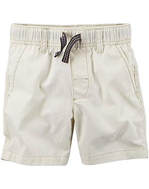 Carter's Boy's Ivory Poplin Shorts (9 Months)!