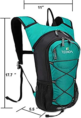 REINOS Hydration Backpack with 2L Bladder for Men & Women, Daypack with Thermal Insulation | Great for Hiking, Running, Cycling, Camping, Skiing, Outdoor Activities