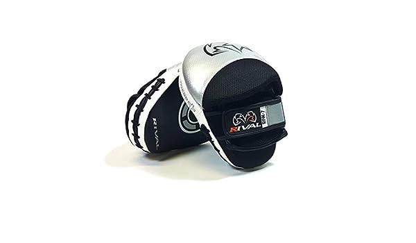 Rival RPM7 Fitness Plus Color Negro y Plateado Piel Manoplas de Boxeo